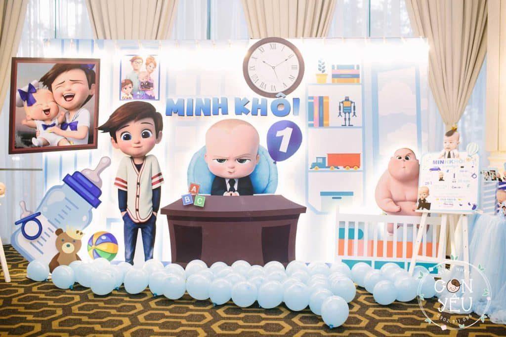 Trang trí sinh nhật cho bé chủ đề Baby Boss