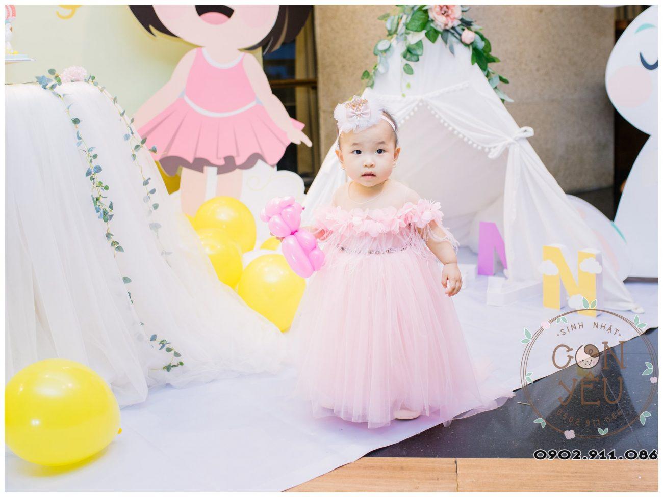 Trang trí sinh nhật cho bé Thiên An
