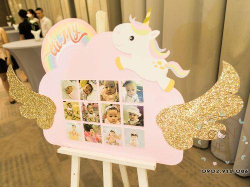 Trang trí thôi nôi chủ đề Unicorn cho bé Ái My