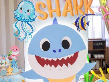 Trang trí thôi nôi chủ đề Baby Shark - bé Subin