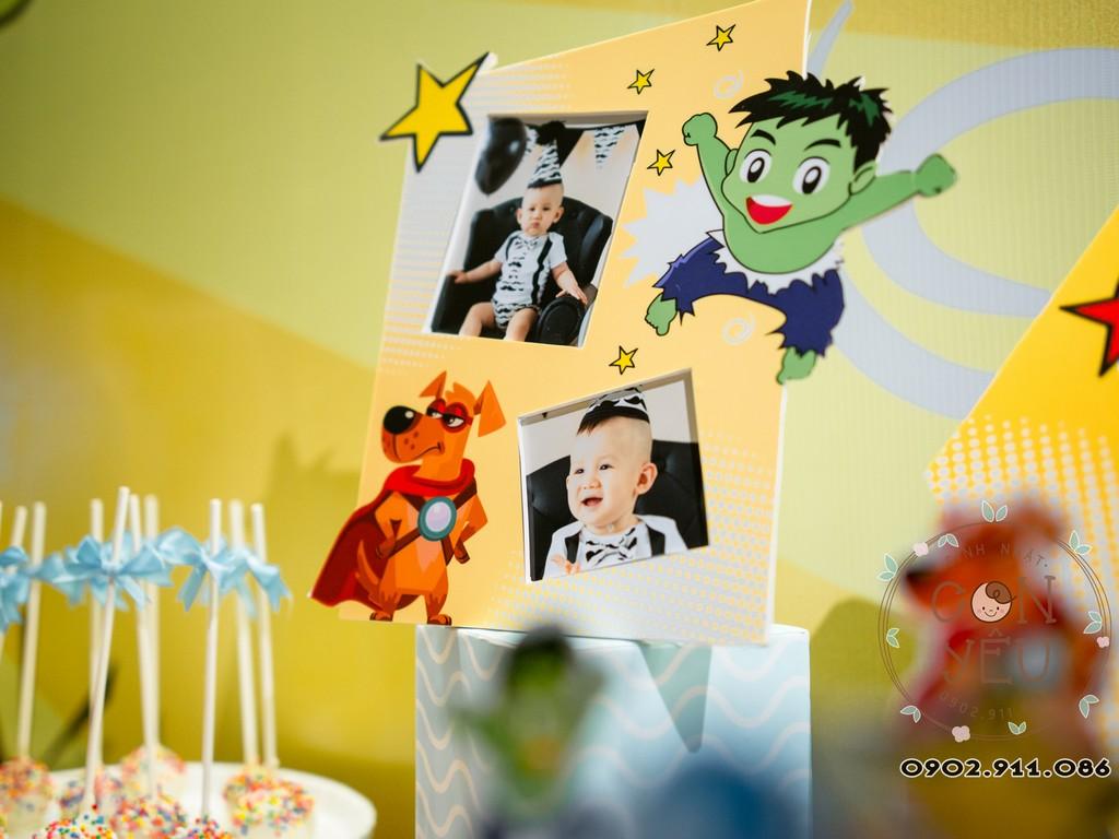Trang trí thôi nôi - sinh nhật chủ đề Siêu Anh Hùng