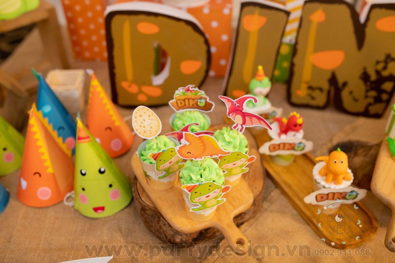 Trang trí sinh nhật chủ đề Khủng Long - bé Dino
