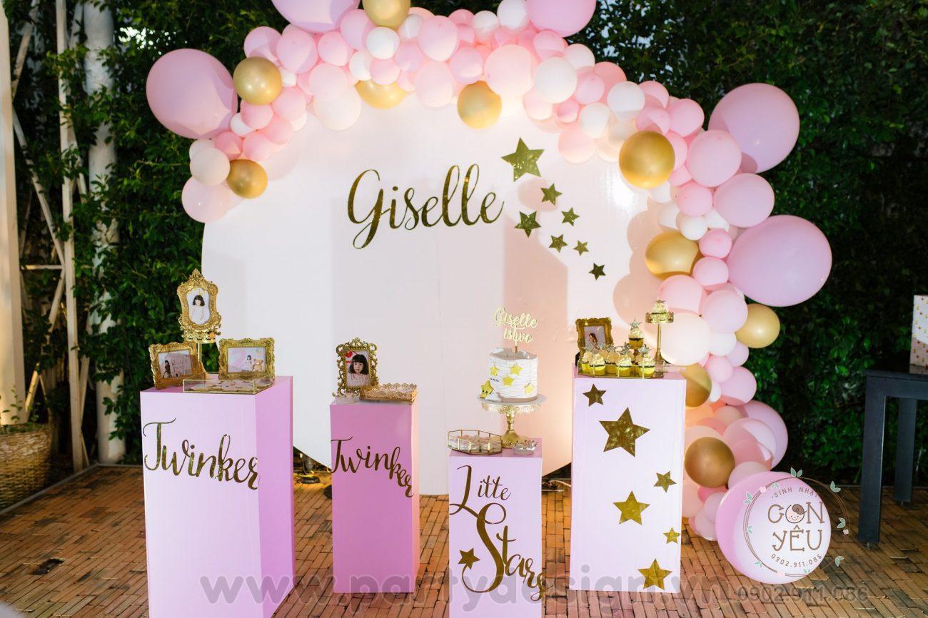 Trang trí sinh nhật phong cách bong bóng - Giselle