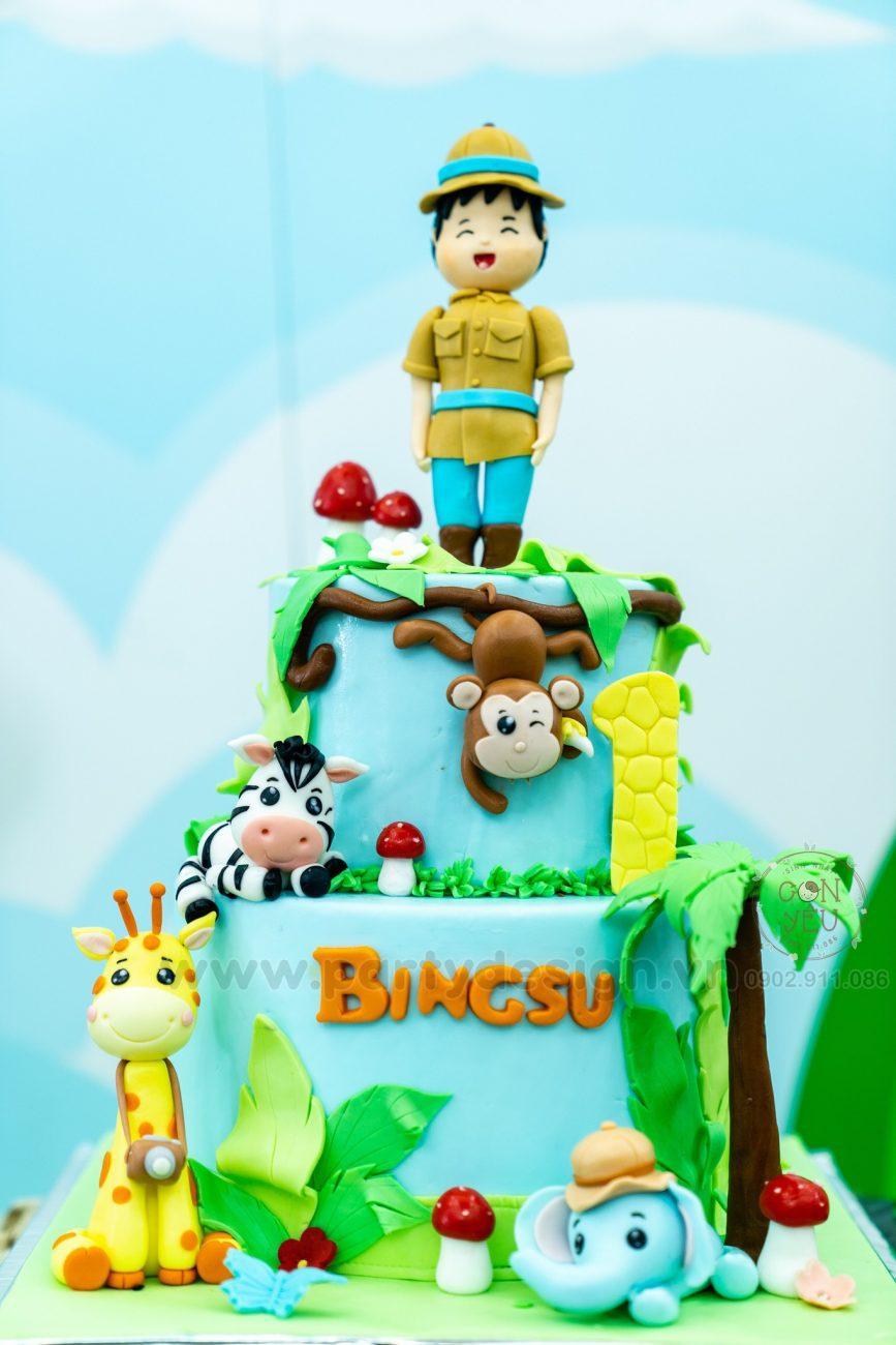 Trang trí sinh nhật chủ đề Safari - BingSu