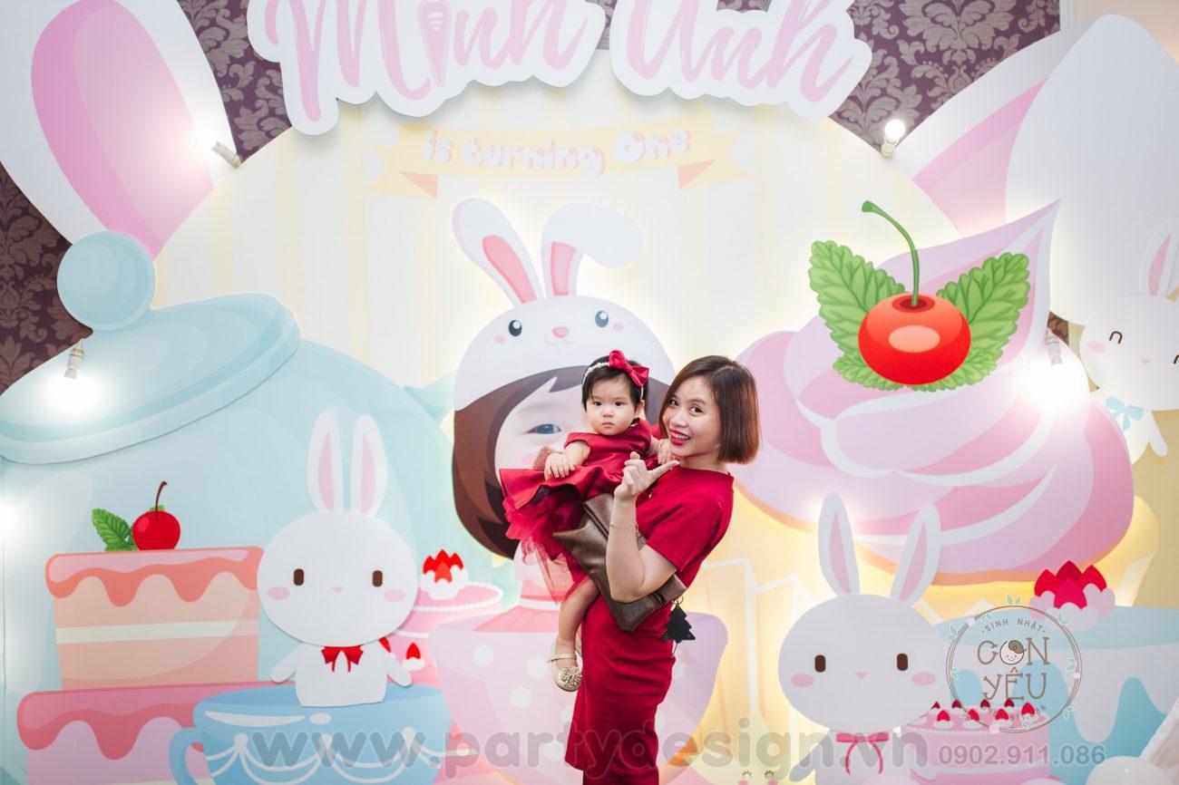 Trang trí sinh nhật bé gái chủ đề Thỏ