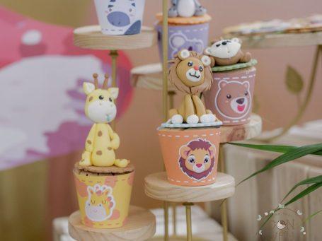 Trang trí sinh nhật bé trai Khánh Phong chủ đề Safari