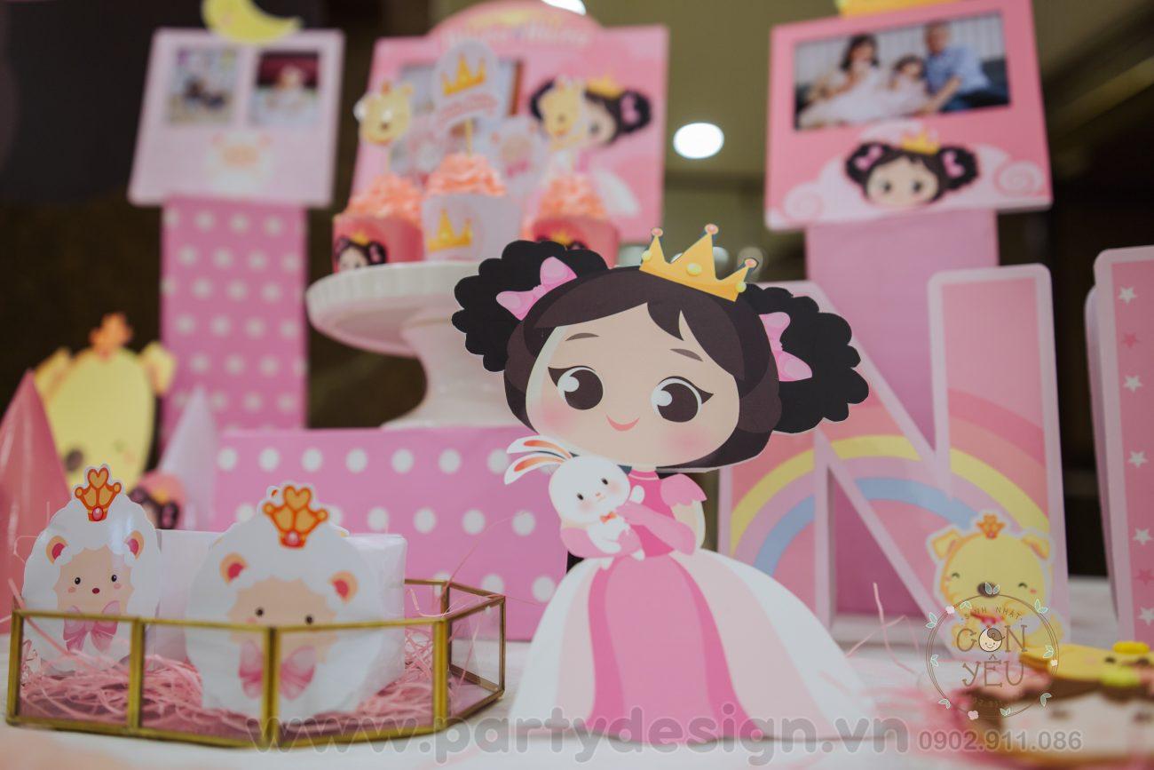 Trang trí sinh nhật bé gái chủ để Công Chúa - Song An