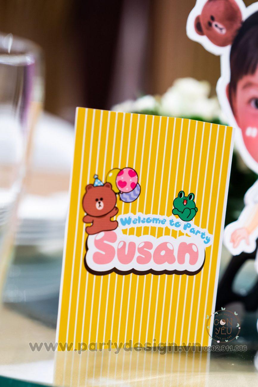 Trang trí sinh nhật bé Susan chủ đề Line