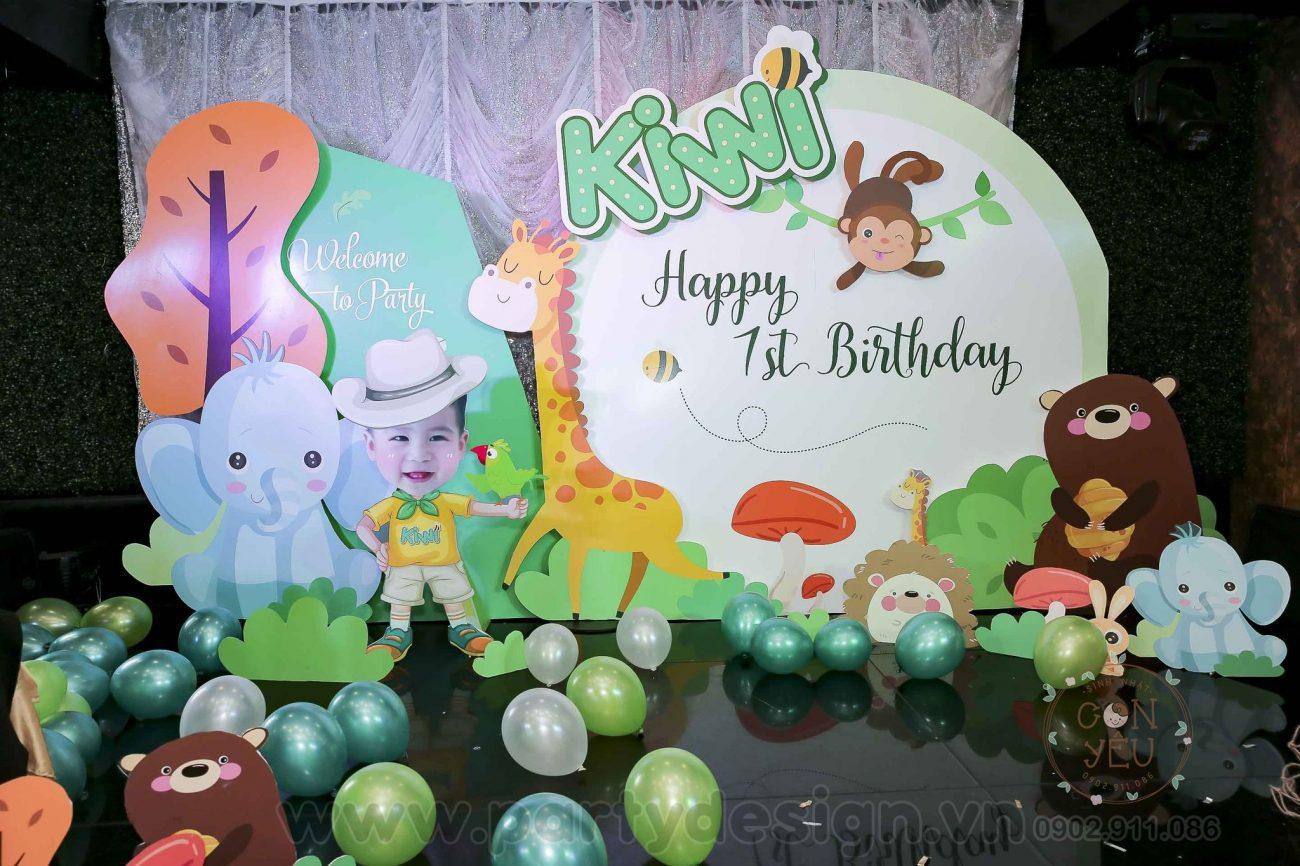 Trang trí sinh nhật bé trai chủ đề Safari-Kiwi
