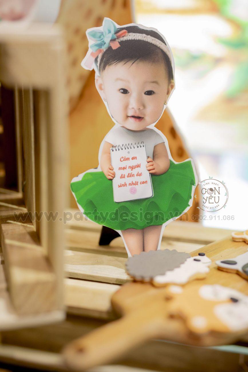 Trang trí sinh nhật chủ đề bé gái SAFARI - LANI