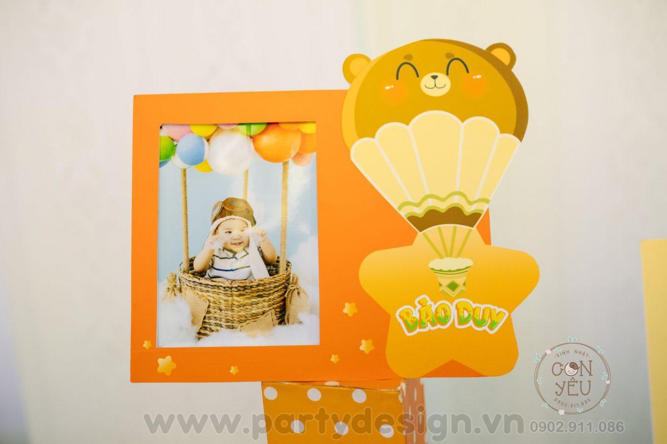 Trang trí sinh nhật bé trai chủ đề Bắp - Bảo Duy