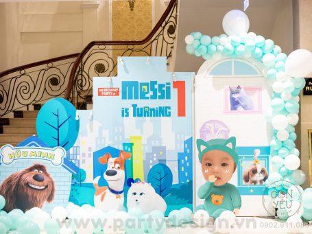 Trang trí sinh nhật bé trai chủ đề Đẳng Cấp Thú Cưng - Messi