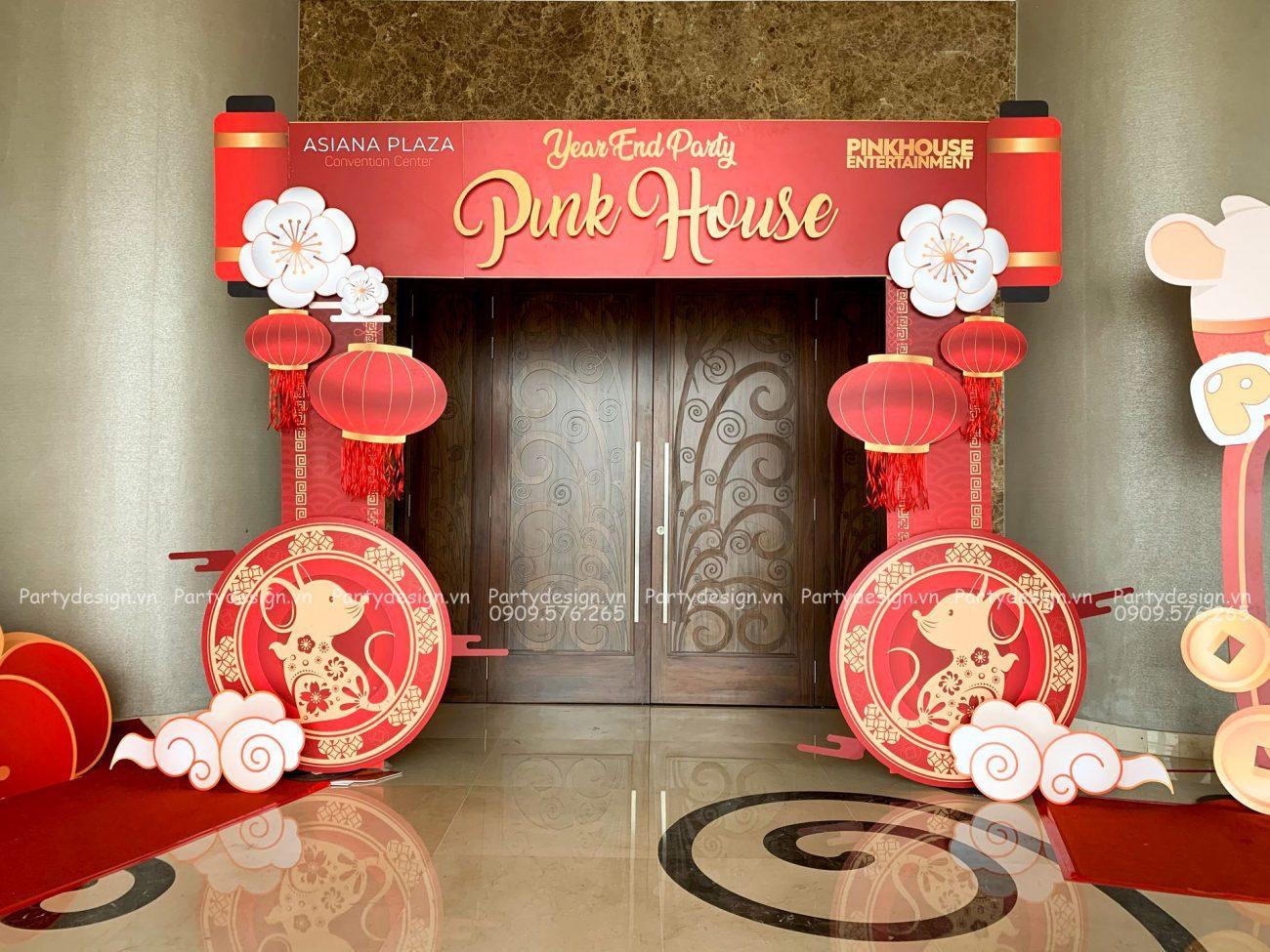 Cổng trang trí Tất Niên / Year End Party Pinkhouse 2020