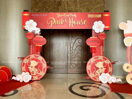 Cổng trang trí Tất Niên Pinkhouse 2020