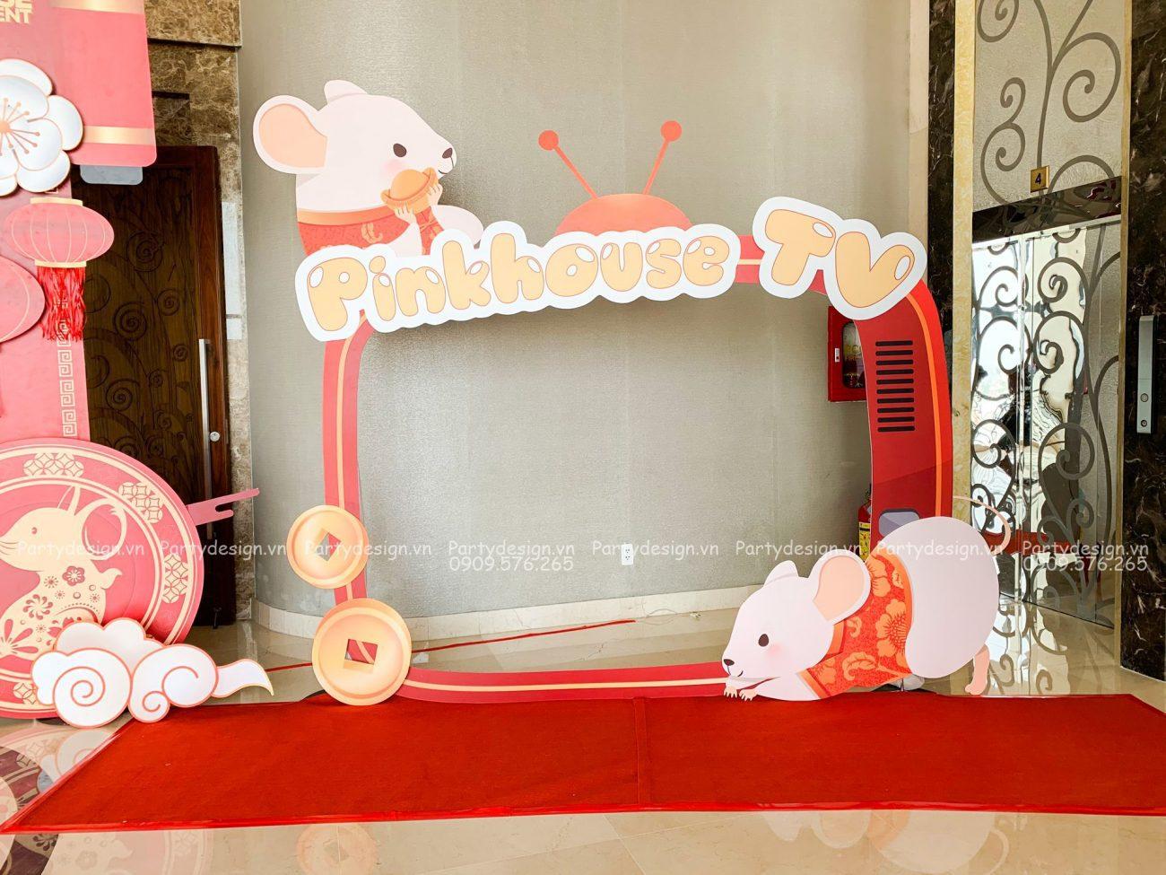 Photobooth trang trí tất niên / Year End Party Pinkhouse 2020