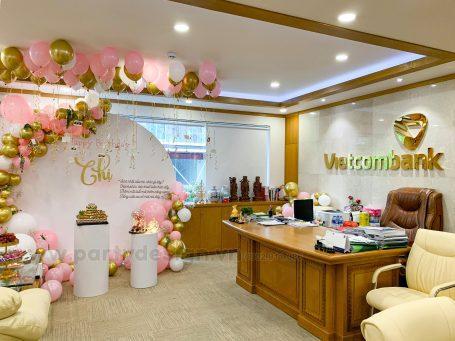 Trang Trí Sinh Nhật cho Giám Đốc Chi Nhánh Vietcombank