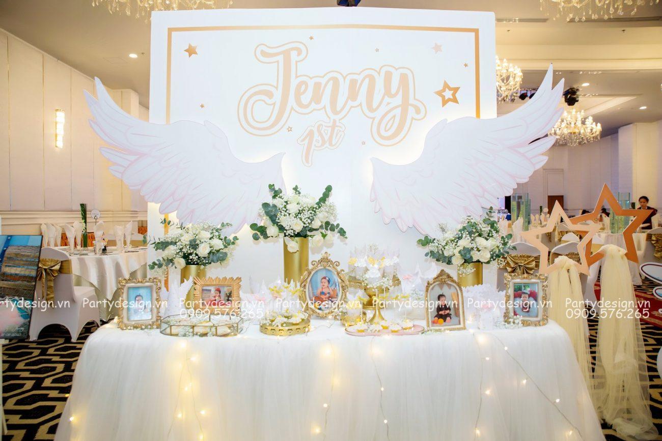 Trang trí thôi nôi - sinh nhật chủ đề Thiên Thần - bé Jenny
