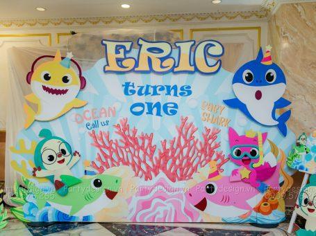 Trang trí sinh nhật Baby Shark - Eric