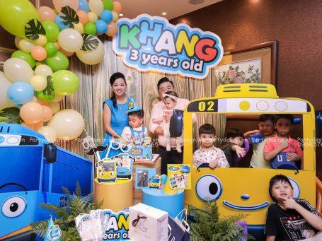 Trang trí sinh nhật Tayo xe buýt bé nhỏ - Phước Khang