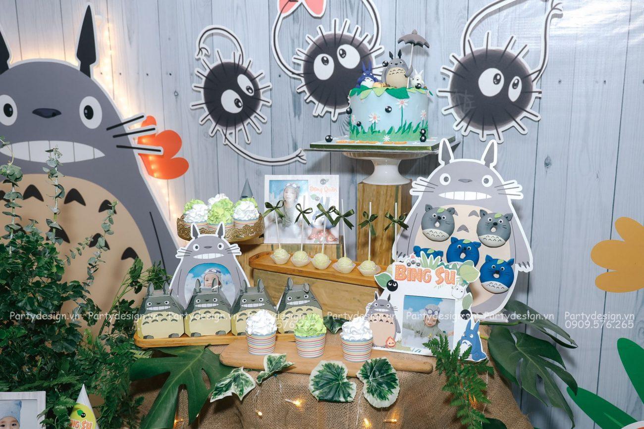 Trang trí sinh nhật thỏ Totoro - Bing Su