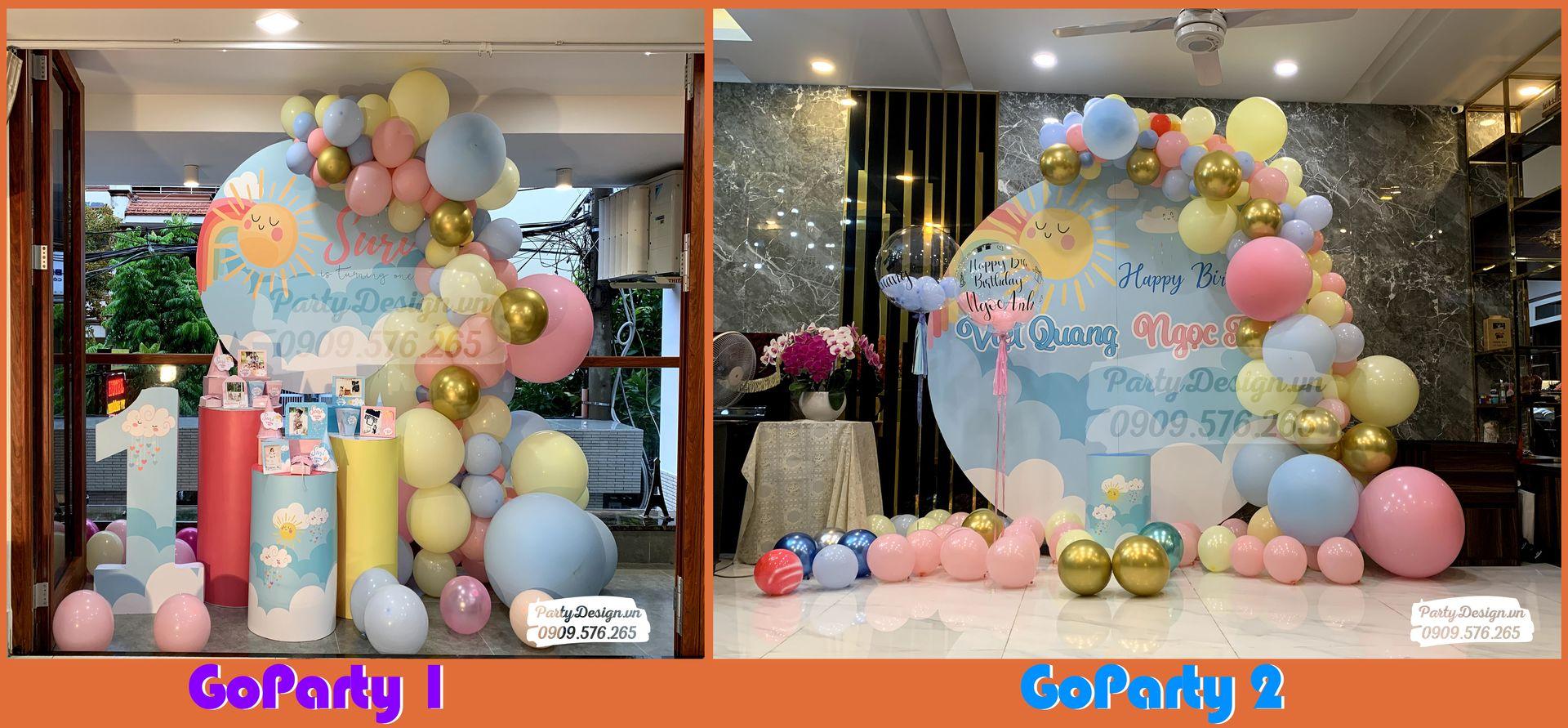 GoParty trang trí sinh nhật tại nhà