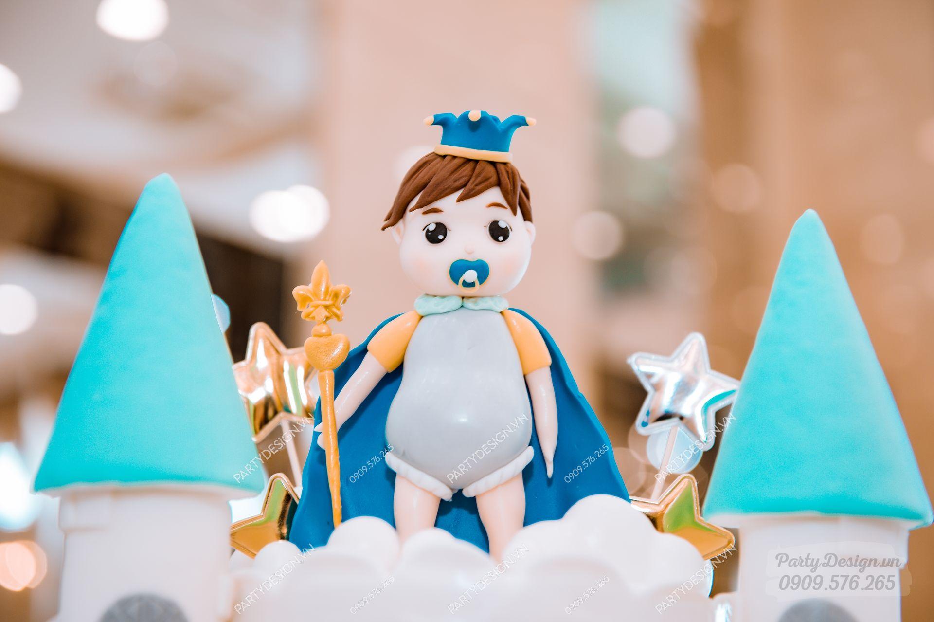 Trang trí sinh nhật chủ đề Hoàng Tử - bé Thiên Phước