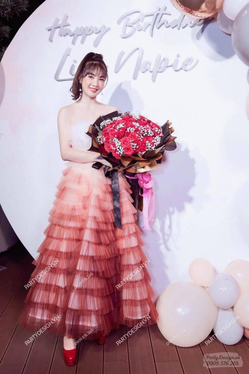 Trang trí sinh nhật hot girl Linh Napie
