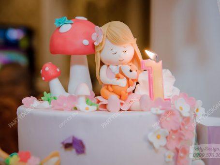 Trang trí sinh nhật chủ đề Công Chúa & khu vườn cổ tích - bé Ori