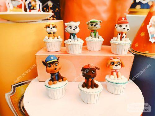 Bánh cupcake sinh nhật bé trai Paw Patrol