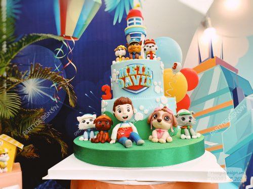 Bánh kem sinh nhật bé trai Paw Patrol