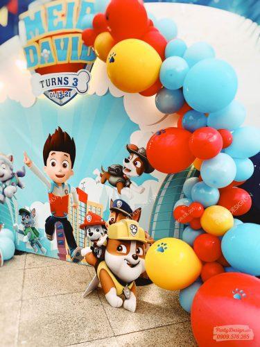 Trang trí sinh nhật bé trai Paw Patrol