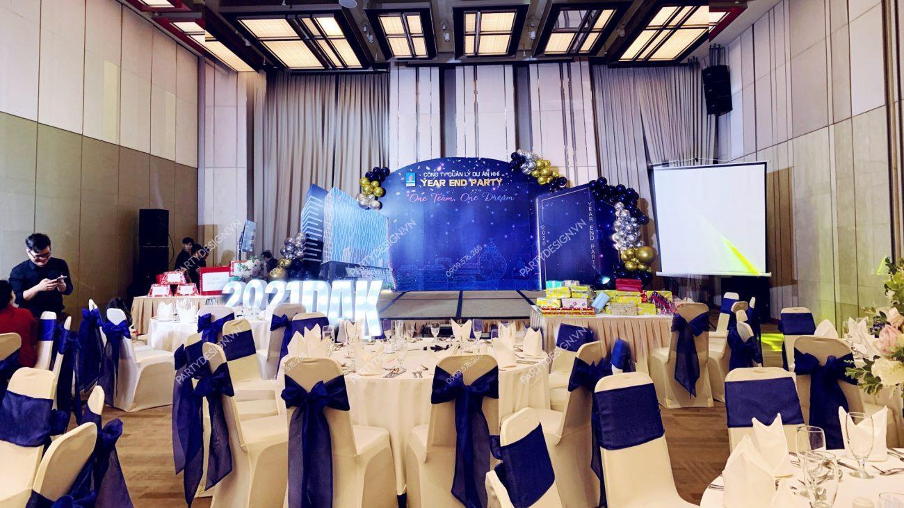 Backdrop sân khấu Year End Party, tất niên PV GAS tại Nikko Hotel Saigon