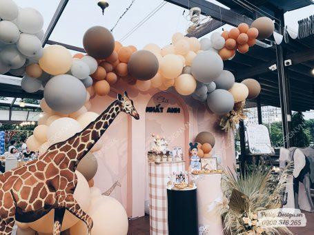 Trang trí sinh nhật chủ đề Safari – Chít Nhất Anh